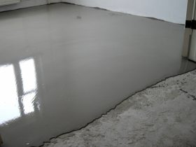 Заливка наливного пола