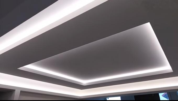 Парящий квадрат из гипсокартона в многоуровневом потолке