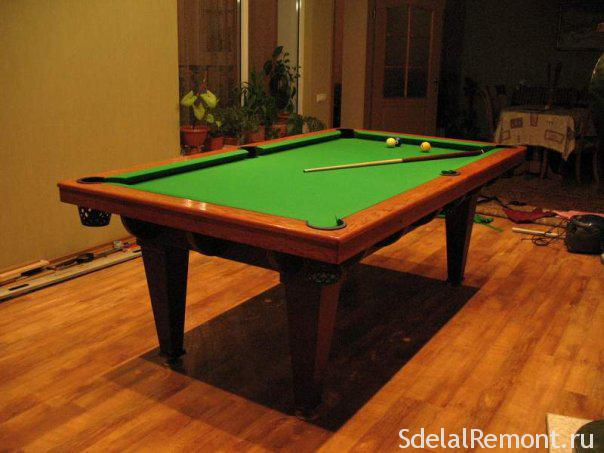 Бильярдные столы своими руками видео фото 280