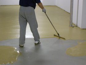 Selection mixture for floor leveling