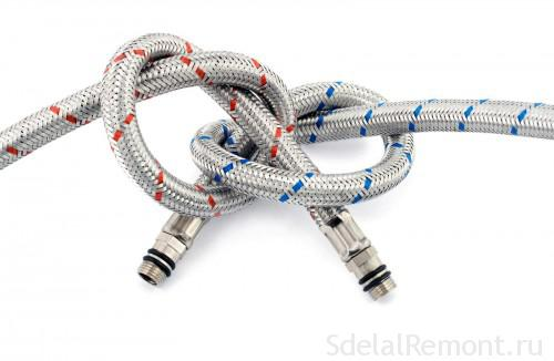 Flexible hoses with braided