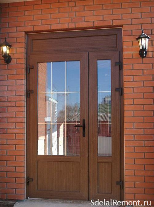 PVC entry doors