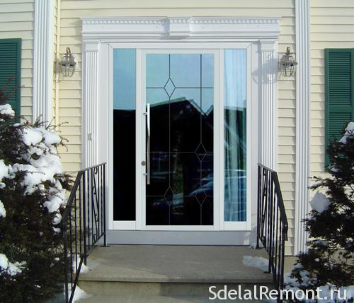 PVC entrance door to the house