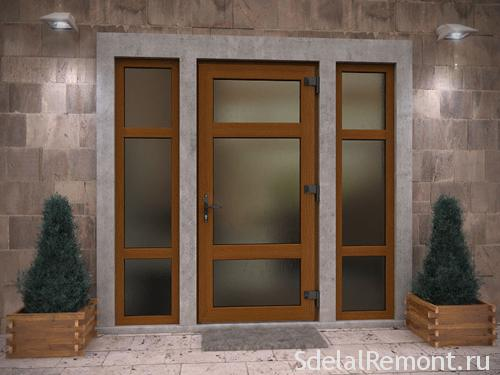 PVC door with glass entrance