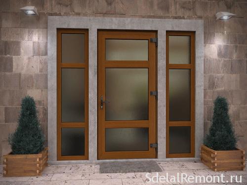 ПВХ-двери со стеклом входные