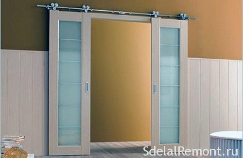 Раздвижные межкомнатные двустворчатые двери