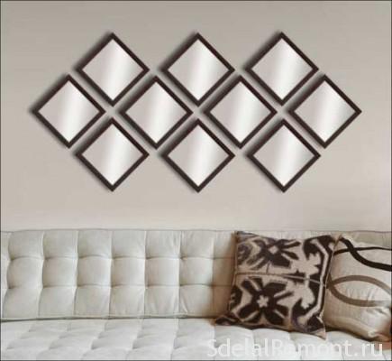 Декор стін дзеркалами