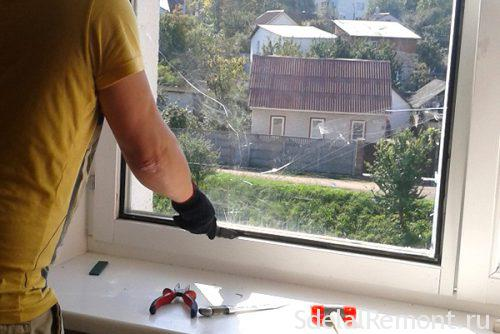 Dismantling of plastic windows