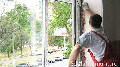 Снятие пластикового окна