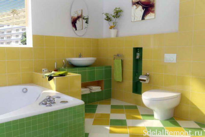 Плитка для маленькой ванной комнаты, какую выбрать