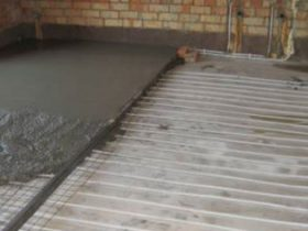 Stages mounting warm water floor