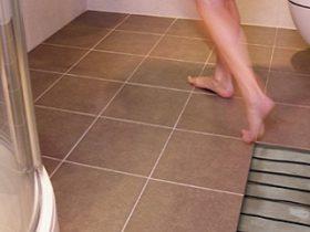 The choice of a warm floor under the tile
