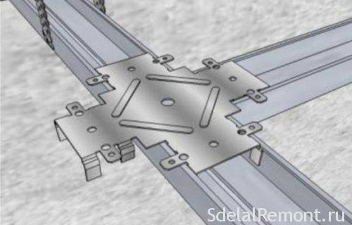 Двухуровневый потолок из гипсокартона с подсветкой по периметру