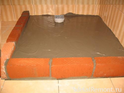 Цегляна подушка душового піддону