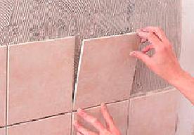 Заведение плитки в углах