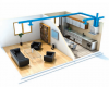 ventilation unit – clean, fresh air into the building with low energy consumption