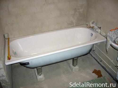 Мантаж стальной ванны
