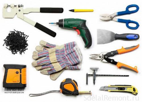 Набор-инструментов для работы с гипсокартоном