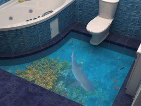 Наливные полы в ванной