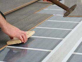 Монтаж інфрачервоного теплої підлоги