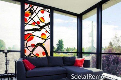 Stained glass for plastic windows