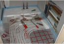 Installation and laying of water underfloor heating