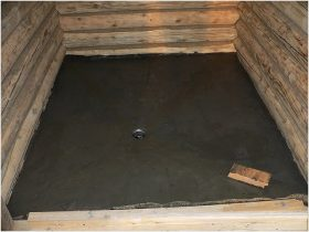 Concrete screed with slope