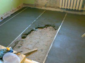 Заліванне бетоннай сцяжкі