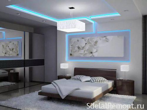 Как сделать короб на потолке из гипсокартона с подсветкой