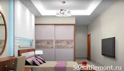 Гипсокартонный потолок с подсветкой