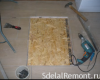 Rules and Features tile on plywood