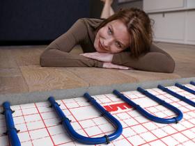 Installation of floor heating
