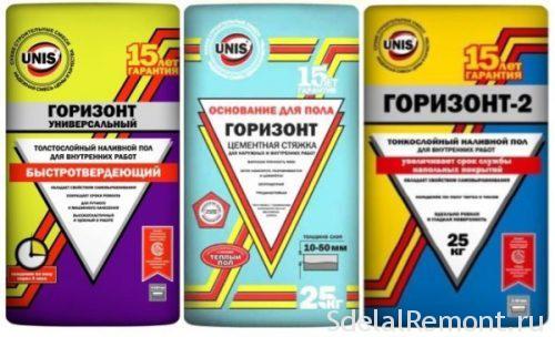 Varieties mixtures for flooring stuzhki Horizon
