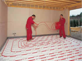 Тепла підлога в стяжку