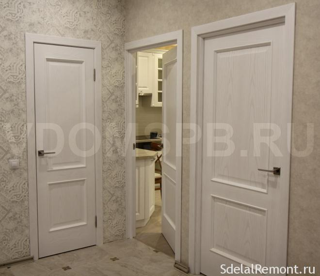 двери из шпона дуба
