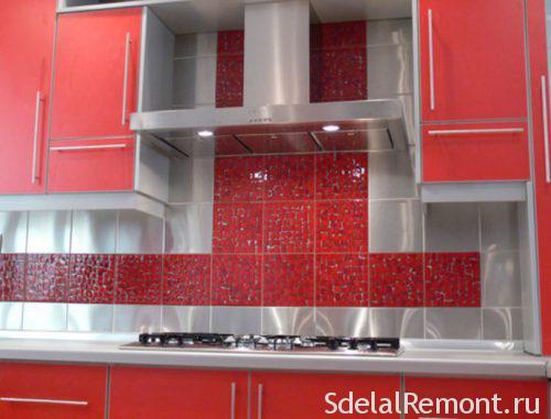 matt tiles in the kitchen