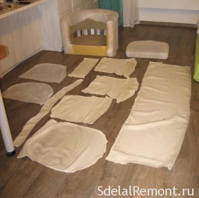 Зняти обшивку з м'яких меблів