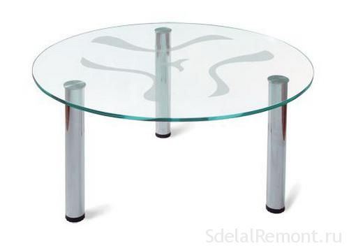 Как сделать журнальный столик из стекла своими руками