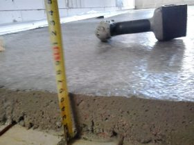 Installation of concrete screed