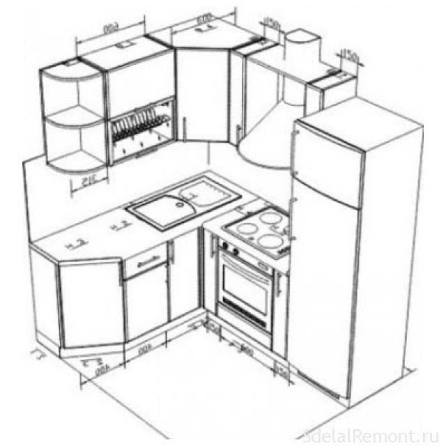 Кухня своими руками чертежи размеры фото