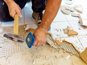 Наливна підлога під плитку