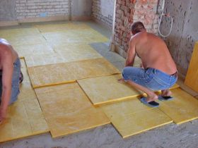 Sound insulation under the floor screed