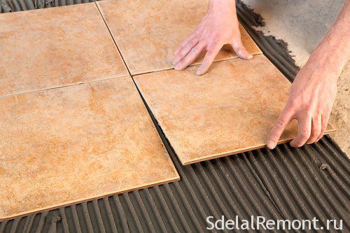 Укладка плитки на пол своими руками подробные фото 788