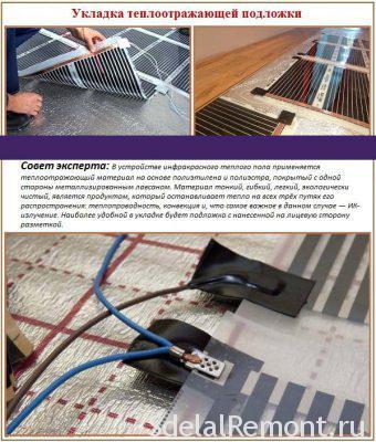 Пристрій плівкової підлоги під ламінат