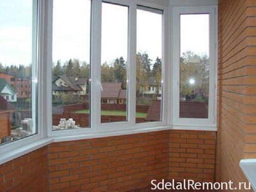 Installation of windows in the loggia