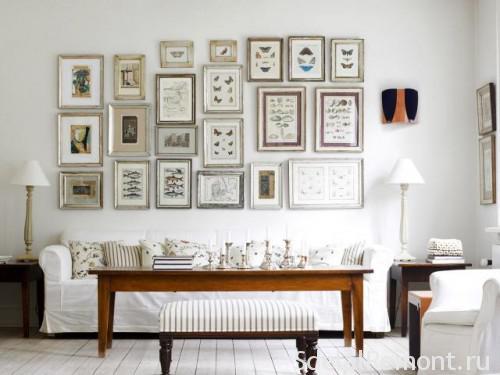 Фотогаллерея на стене