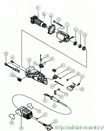Ланцуга кіраванне УШМ 125
