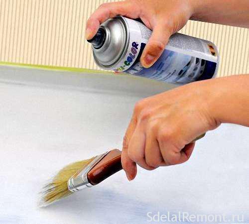 чем покрасить пластиковый подоконник