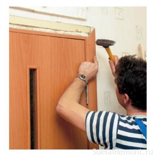 Как прибить дверной наличник