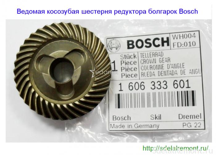 Ведзеная шасцярня рэдуктара УШМ Bosch